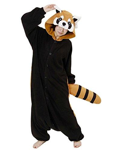 HSTYLE Unisex-Erwachsene Onesies Kigurumi Pyjamas Tier Kostüme Cosplay Cartoon Nachtwäsche Racoon Racoon