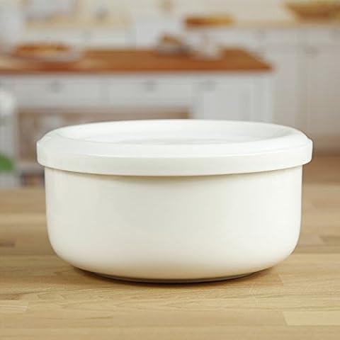 Yifom coperto Soup Bowl ciotola in ceramica di insalata di