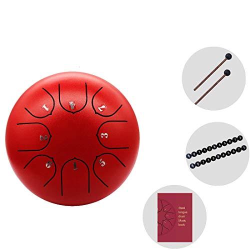 CCDYLQ 8-Zoll-Stahl-Zungentrommel mit Schlägel und Reisetasche für persönliche Meditation, Yoga, Zen, Geschenk für Anfänger