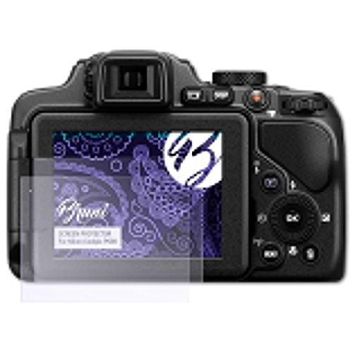 Bruni Schutzfolie kompatibel mit Nikon Coolpix P600 Folie, glasklare Displayschutzfolie (2X) (Nikon P600 Kamera)