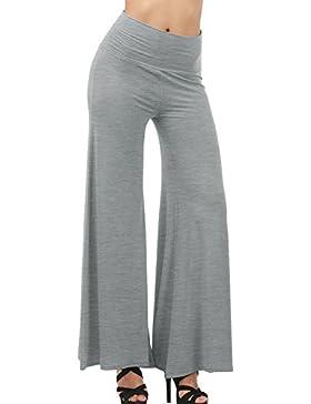 Gladiolus Casual Fresca Pantalones Pantalón De Las Mujeres De Pernera Ancha para Yoga Rucio X-L