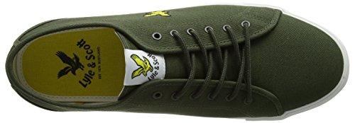 Lyle & Scott Herren Teviot Twill Sneaker Grün (Olivgrün)