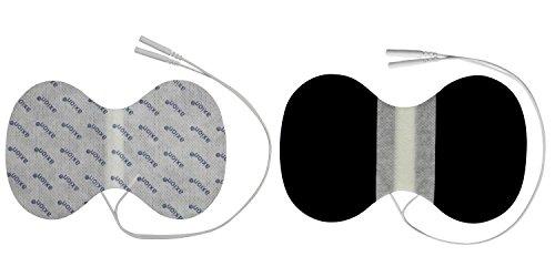 2 x Nacken - Elektroden / Pads, 150x95mm gross, für TENS EMS Reizstromgerät mit 2mm-Stecker-Anschluss