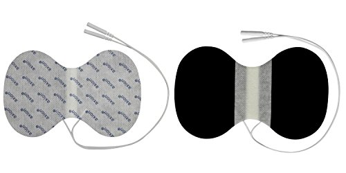 2x Elektroden-Pads für den Nacken - 150x95mm - TENS EMS Anwendungen - Reizstromgeräte mit 2mm-Stecker-Anschluss