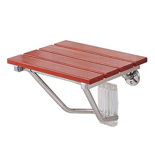Sgabello da bagno in legno massello inox sgabello pieghevole in acciaio sedile antiscivolo parete doccia parete attrezzata per bagno,b