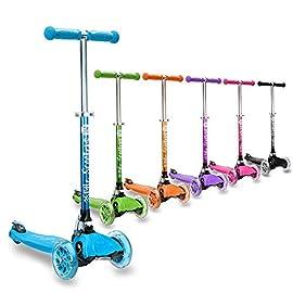 3Style Scooters® RGS-1 Monopattino a Tre Ruote per Bambini Piccoli - Perfetto per i Bambini di almeno 3 Anni - Ruote Luminose a LED, Design Pieghevole, Maniglie Regolabili & Struttura Leggera