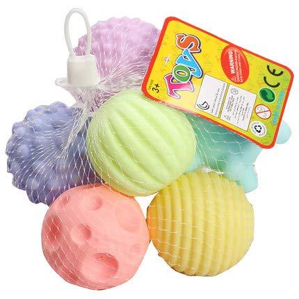 WTTTTW Hund behandeln Dispensing Toy IQ Treat Ball, hohe Temperaturbeständigkeit waschbar Sound Toys Beste für Hunde Erhöht IQ (6 Pack) -