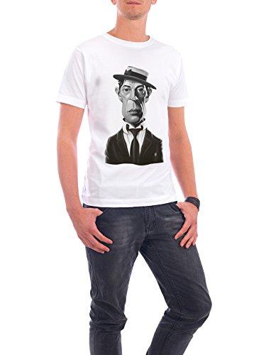 """Design T-Shirt Männer Continental Cotton """"Buster Keaton"""" - stylisches Shirt Film von Rob Snow Weiß"""