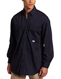 Key Apparel Men's Big & Tall Flame Resistant Button Down Long Sleeve Twill Shirt