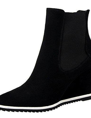 WSS 2016 Chaussures Femme-Extérieure / Bureau & Travail / Soirée & Evénement-Noir / Marron / Gris / Bordeaux / Kaki-Talon Compensé-Talons / Bout gray-us6 / eu36 / uk4 / cn36
