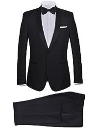 Amazon.it  Nero - Pantaloni da smoking   Abiti e giacche  Abbigliamento b7f53b9e2a6