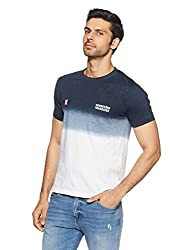 French Connection Mens Slim Fit T-Shirt (56IKB_Marine Blue_M)