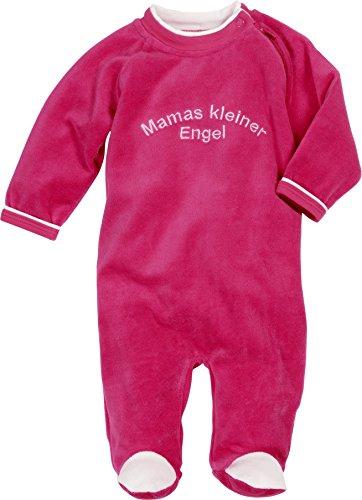 Schnizler Schlafoverall Nicki mit Stickerei: Mamas Kleiner Engel, Oeko-Tex Standard 100 Pyjama, Rose (Pink), 6 Mois Bébé Fille