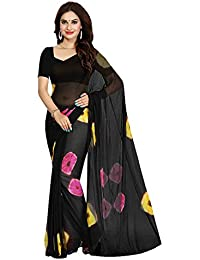 Holi special dress for women Sarees combo offer below 500 rs Sarees ( Sarees combo offer below 500 rs sarees for women latest design 2018 sarees new collection 2017 sarees below 1000 rupees sarees below 500 rupees party wear sarees for women party wear sarees above 1000 rupees sarees above 2000 rupees sarees above 1000 sarees all sarees above 500 rupees a party wear sarees for wedding Black Color Chiffon Fabric Saree and unstitched blouse piece )