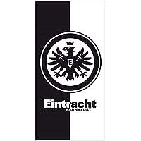 Eintracht Frankfurt Duschtuch schwarz/weiß 70x140 cm