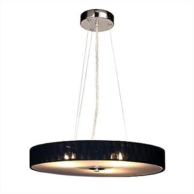 s`luce (Twine) BLACK Hängeleuchte 3-flammig, Ø50cm/H7cm, schwarz P0833 Ø50/H7 BK von Licht-Design Skapetze GmbH & Co KG bei Lampenhans.de