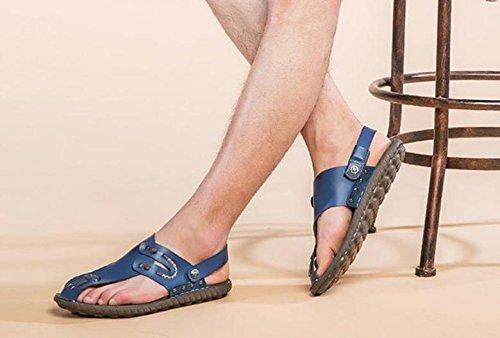 2017 Scarpe da spiaggia per sandali da uomo con pantofole Confortevole Scarpe Uomo Scarpe Massaggio Soft Sandali estivi Blue