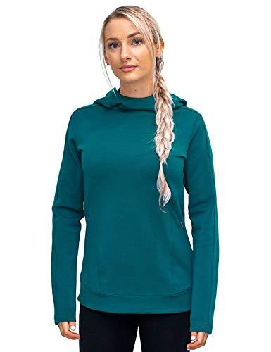 Damen Poly-spandex (WoolX Elsie Damen Kapuzenpullover aus Merinowolle, Damen, Elsie Hoodie, Midnight Teal, X-Small)