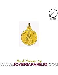 Medalla Nuestra Señora de Begoña Redonda Oro 18K. 750Mls. 15Mm.