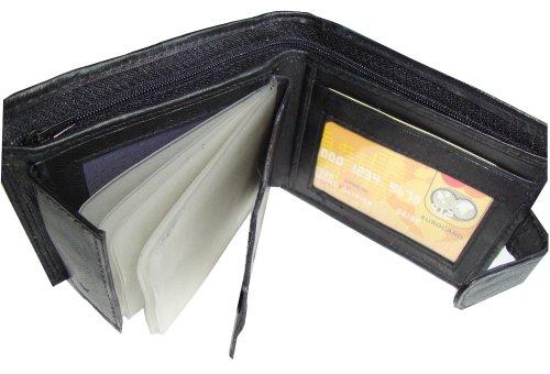 Portefeuille en cuir souple pour homme aux multiples emplacements pour cartes de crédit
