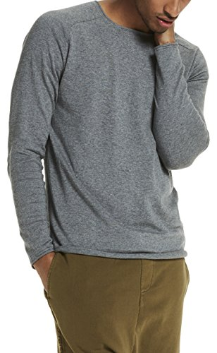 Scotch & Soda Crewneck Pullover In Cashmere Blend Quality with Rolled Edge, Pull Homme Grau (Grey Melange 606)