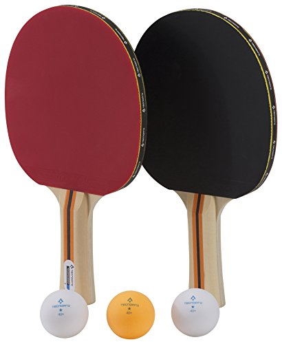 Tecnopro Tischtennis-Schläger-Set Tournament Dx Schwarz/Rot One Size
