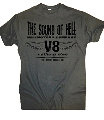 Sound of Hell V8 T-Shirt US Car Hot Rod Biker Oldschool Custom (XL) (Old-school-xl T-shirt)