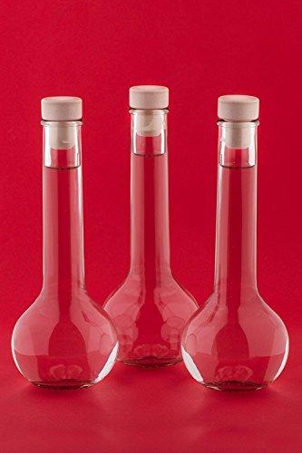6, 12 oder 24 x 200ml TUL-HGK Glasflaschen Likörflasche Flasche mit Korken Verschluss Likörflasche Schnapsflasche Essigflasche Ölflasche Saftflasche zum selbst Abfüllen, Nr 200ML von slkfactory (6)