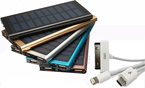2USB Power Bank Solar Ladegerät externe Batterie 100000 mAh Universal Notebook