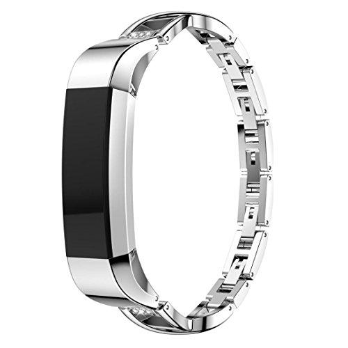 Frauen Crystal Kleine Metall Uhrenarmband Für Fitbit Alta HR / Alta Armband Ersatz CICIYONER