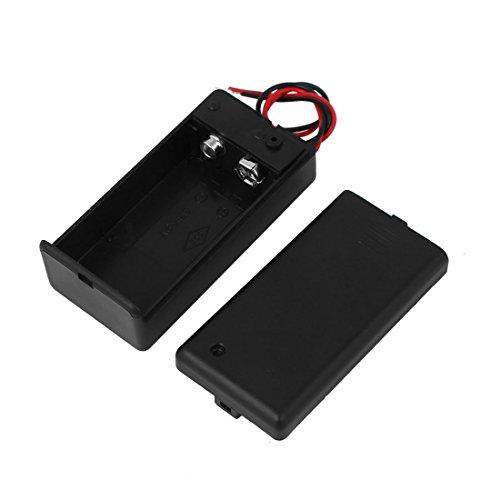 sourcingmap® 6F22 9V Batterie Clip Halter Quadrat Form eingeschlossen Schalter Draht Kasten de