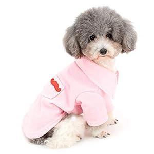 Zunea Polo pour Petit Chien en Coton Doux et Confortable T-Shirt d'été Couleur Unie Vêtements pour Chiot