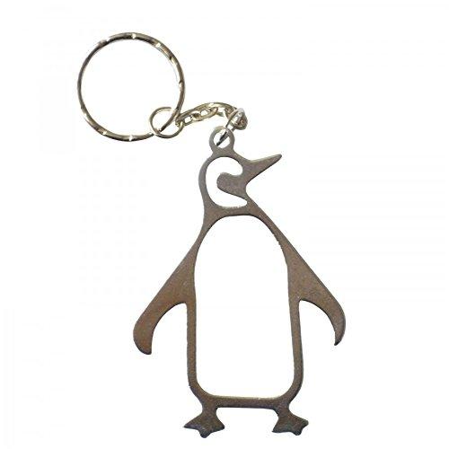 Pinguin-Flaschenöffner auf einem Schlüsselanhänger von PK Green silber -