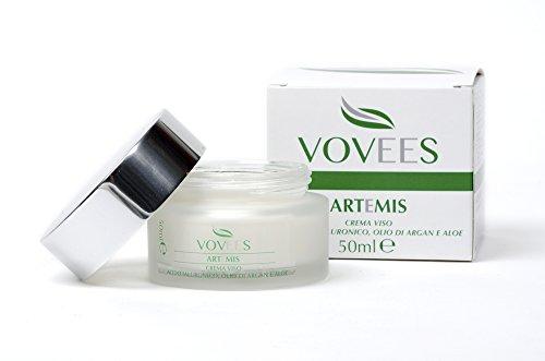 ARTEMIS - Crema Idratante Viso Antiage - Antirughe - ACIDO IALURONICO Argan Aloe Jojoba Karite (Pelle Secca Crema Idratante Mano)