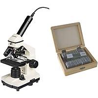Bresser Durchlicht- und Auflicht-Mikroskop Biolux NV 20x-1280x für Kinder und Erwachsene geeignet, inkl. HD USB-Kamera und Kreuztisch zur Objektbewegung, mit umfangreichem Zubehör und Transportkoffer
