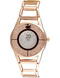 Watch Me Analogue Quartz White Dial Rose Gold Branded Watch for Girls and Womens WMAL-320