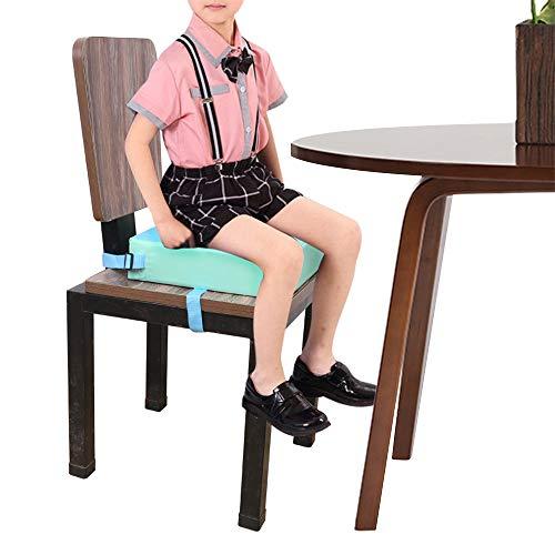 Alzadores de asiento Cojín elevador para silla de comedor para bebé Cojín ajustable de alta densidad desmontable, 31.5 * 31.5 * 8cm
