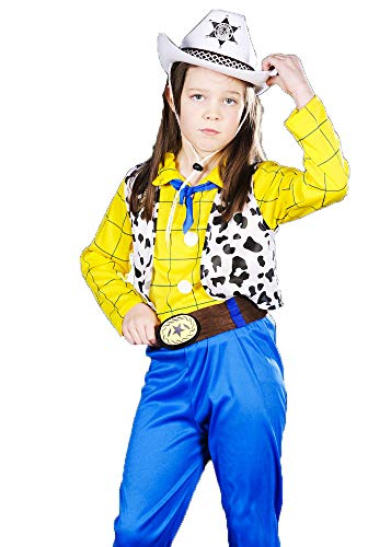 Magic Box Int. Kinder Mike Teavee Stil Cowboy Kostüm Small (4-6 Years) (Magic Mike Kostüm)