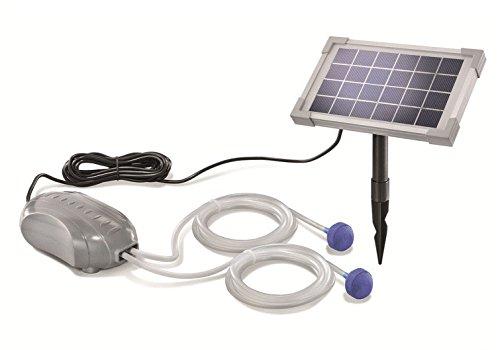 Preisvergleich Produktbild Solar Teichbelüfter DUO Air 2,5W Solarmodul 2 x 90l/h Förderleistung Gartenteich Pumpe Belüftung 101880