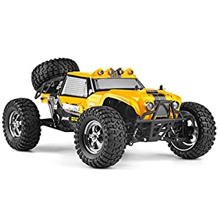 Cherish Hbx 12889 1:12 4WD 2.4G Led-Licht Fernbedienung Wüste LKW Off-Road RC Auto Thruster Drift - Gelb, One
