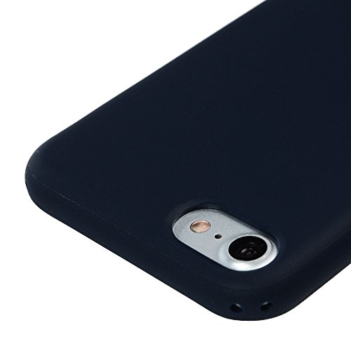 Badalink Hülle für iPhone 7 TPU Case [3 Packs] Matt Einfarbig Cover Ultraslim Dicke 1.5mm Handyhülle Schutzhülle Silikon Bumper Schutz Tasche Schale Antikratz Backcover in Mintgrün Dunkelblau