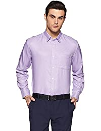 Xessentia Men's Solid Regular Fit Formal Shirt