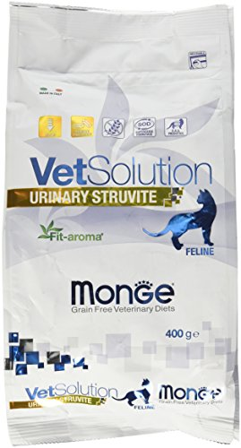 Monge Veterinary Solution Gatto Urinary Struvite GR. 400 Cibo Gatti, Multicolore, Unica