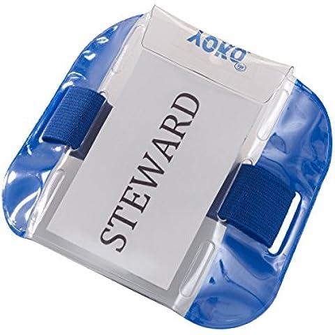 EyeCandy Essentials-Porta Badge da braccio, disponibile in 5 colori di sicurezza, per porta, il personale, per addetti alla e impianti