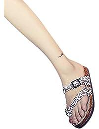 NiSeng Donne Boemia Sandali della Sfera per Piatte Scarpe Benda Rugiada Toe Colorati Sandali Nero 43