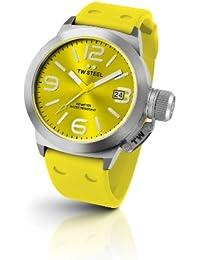 TW Steel TW520 Canteen Fashion - Reloj unisex de cuarzo, correa de silicona color amarillo