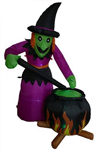 Halloween Figur Hexe 180 cm groß beleuchtet für Party oder Gartendeko