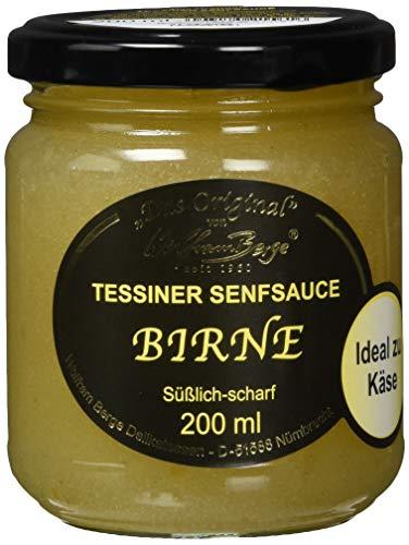 Tess. Birnen-Senfsauce 200ml GL, 3er Pack