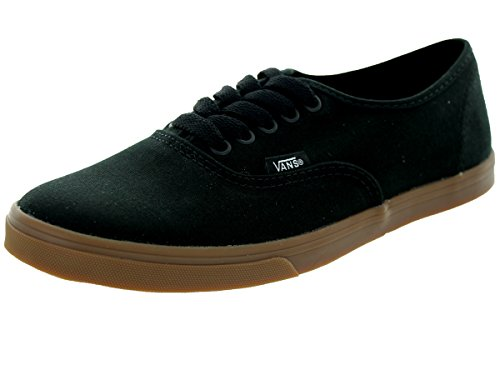Vans Unisex Authentic Lo Profil Schuhe in (Gumsole) Schwarz Black / Gum