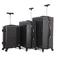 جيوردانو طقم حقائب سفر بعجلات,  3 قطع مع 4 عجلات, رمادي - 787112